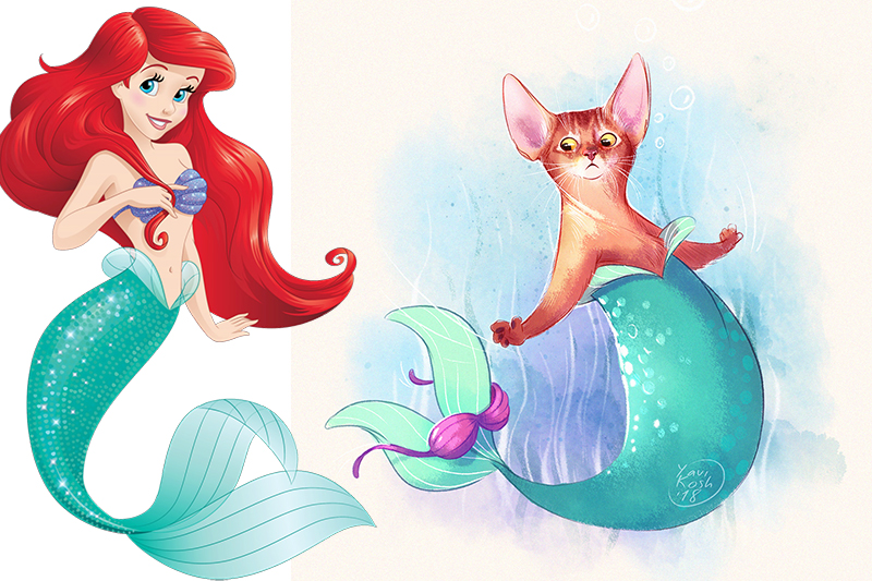If Disney Princess were cats Ariel