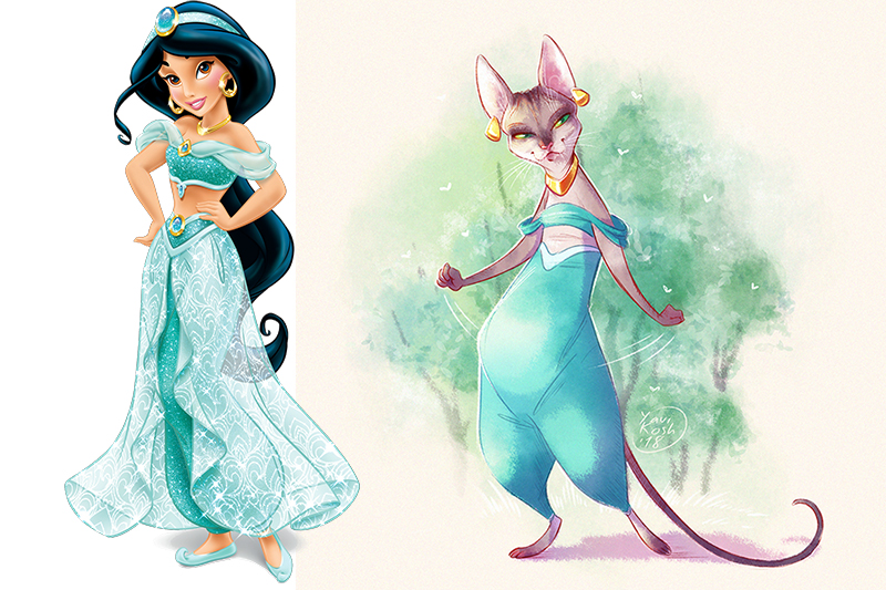 If Disney Princess were cats princess Jasmine