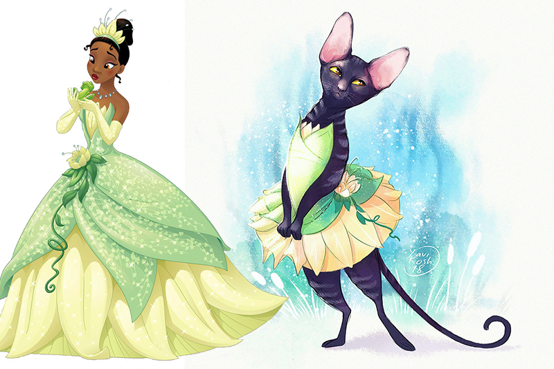 If Disney Princess were cats Tiana
