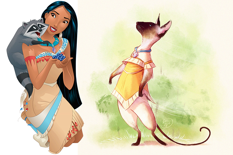 If Disney Princess were cats Pocahontas