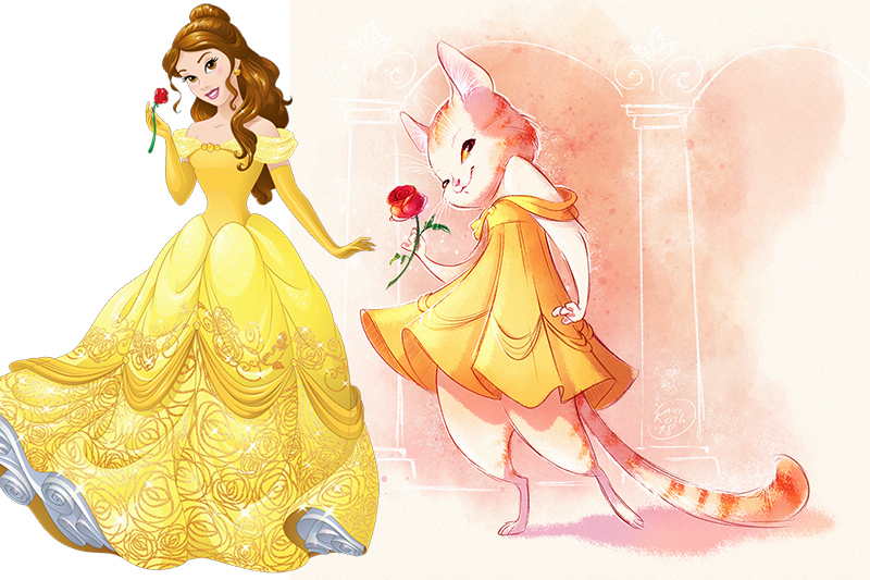 If Disney Princess were cats Belle