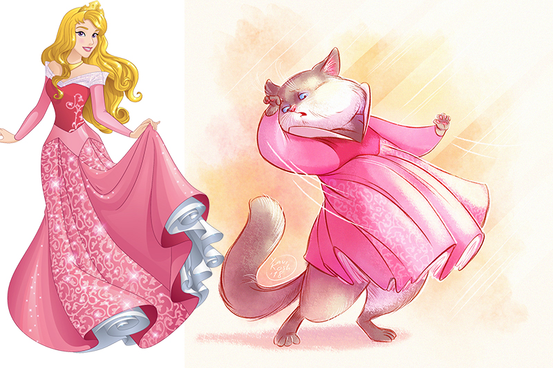 If Disney Princess were cats Sleeping Beauty