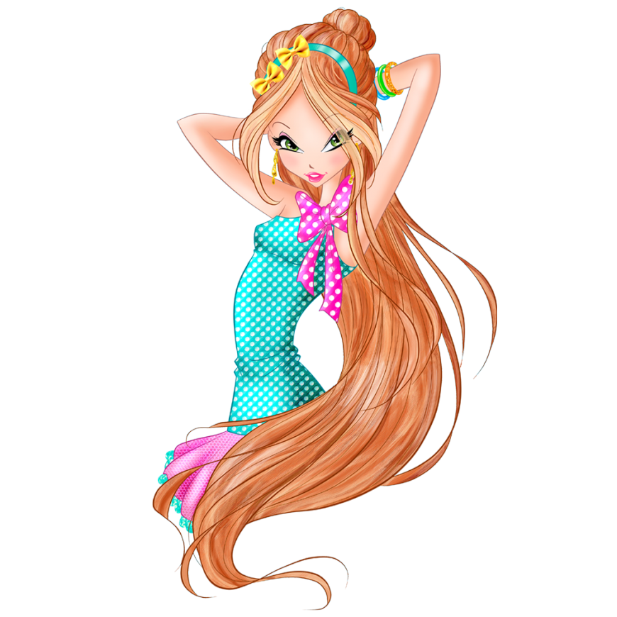 World of Winx Chef Chic Flora strawberry  dotted outfit png picture
