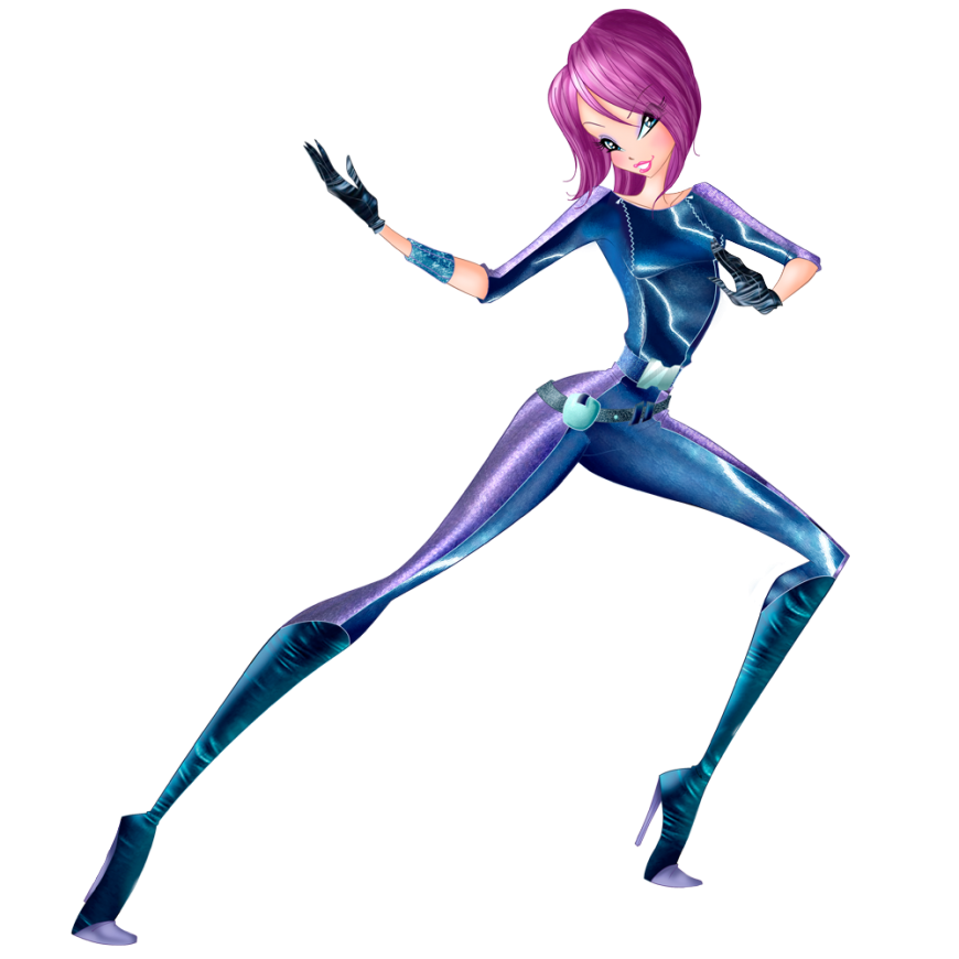 World of Winx Tecna in spy outfit png picture