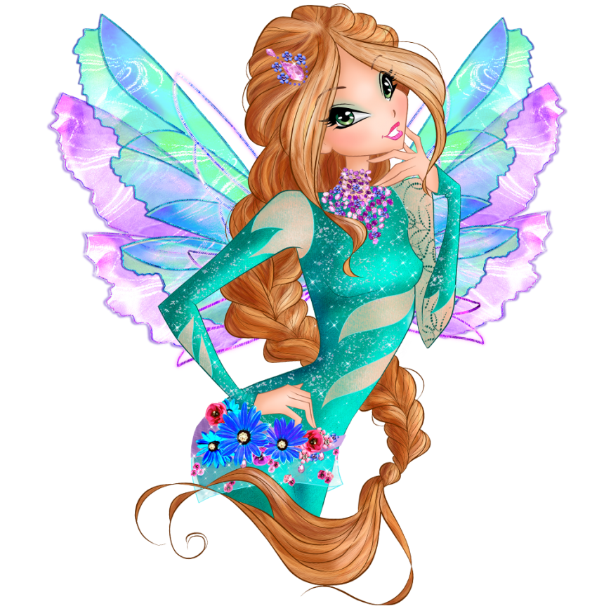 World of Winx onyrix transformation picture Flora png