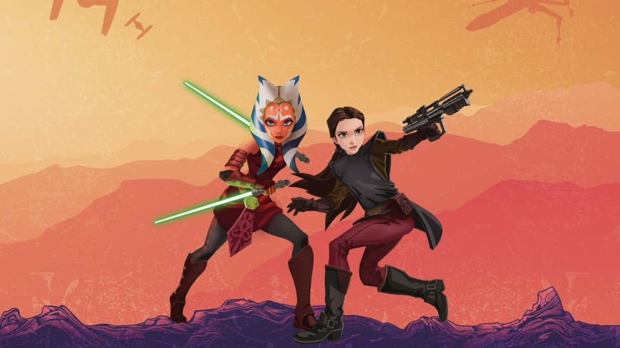 AHSOKA TANO and PADME AMIDALA Star Wars: Forces of Destiny desktop wallpaper