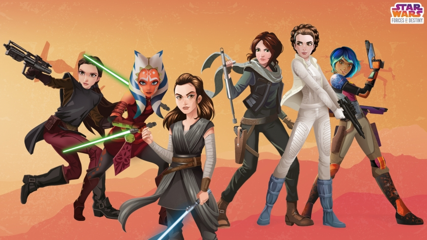 Star Wars: Forces of Destiny desktop wallpaper heroines