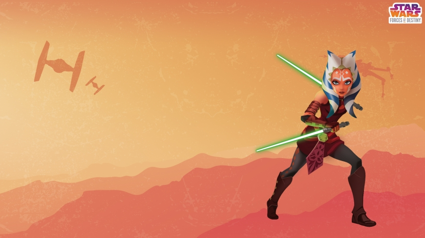 AHSOKA TANO Star Wars: Forces of Destiny desktop wallpaper