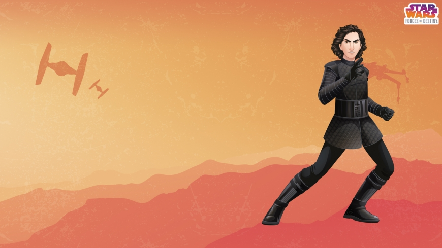 KYLO REN Star Wars: Forces of Destiny desktop wallpaper