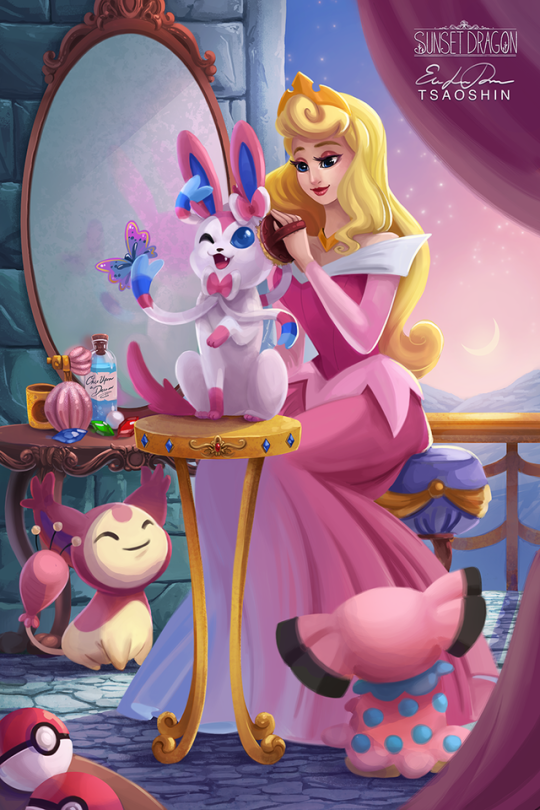 Disney Princesses paired with Eeveelutions