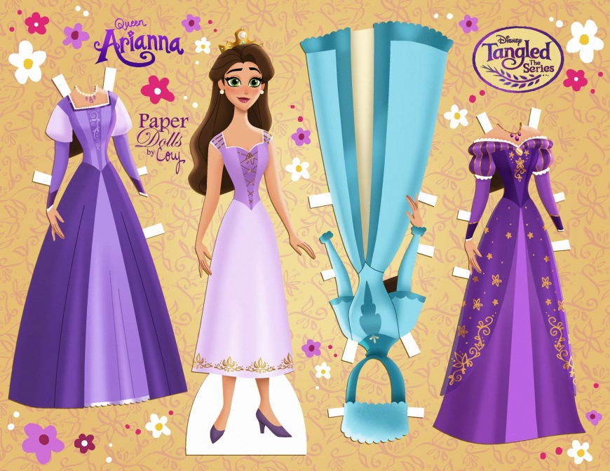 Tangled the series Queen Arianna paper doll