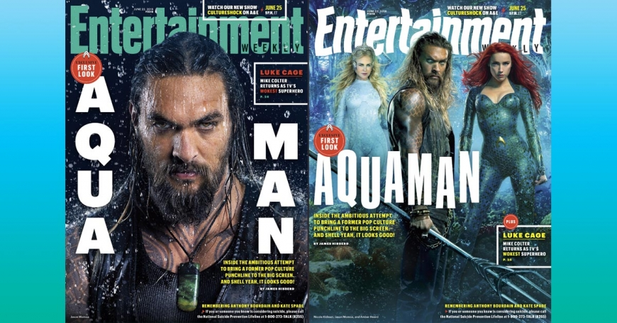 """Aquamen"" on the cover of the magazine and the first look at the Black Manta"