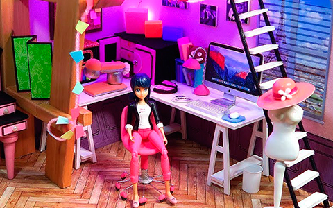 DIY Miraculous Ladybug Marinette's miniature doll room