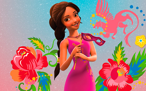Elena of Avalor new official arts of Elena in different dresses