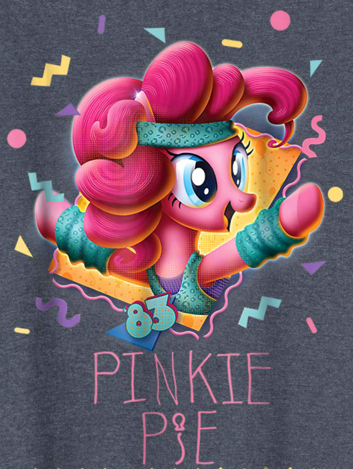 My Little Pony 80's Style special Comic Con 2018 design Pinkie Pie