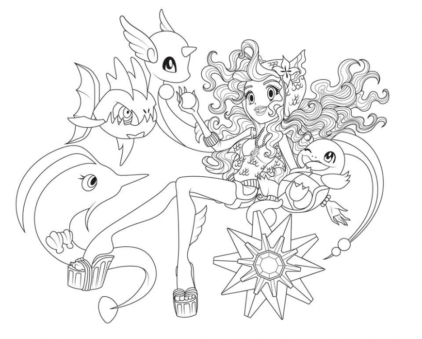 Monster High Pokemon Trainers Coloring Pages Youloveit Com