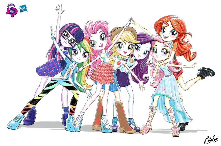 Equestria Girls My Little Pony official art in new style