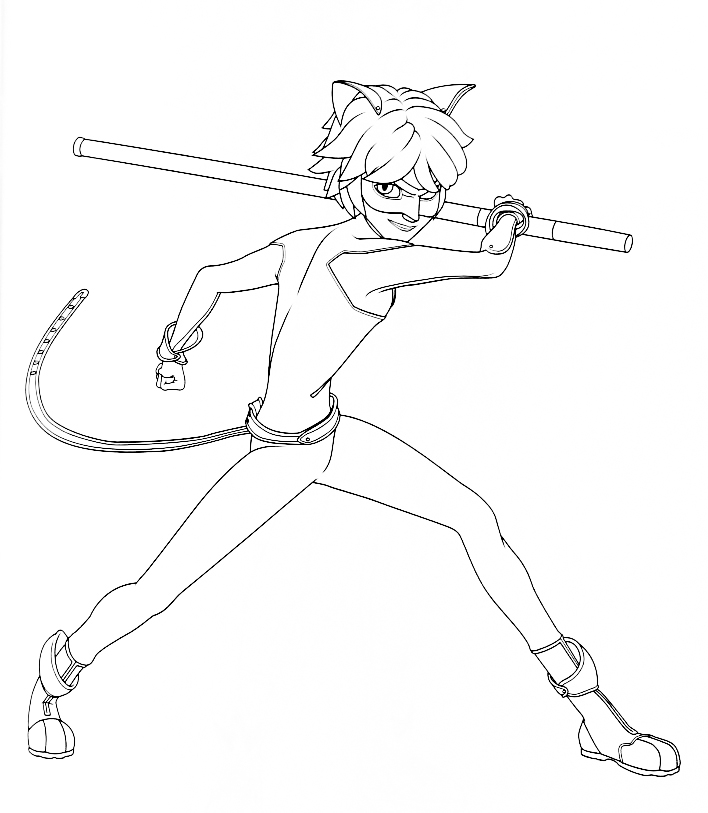 Miraculous Ladybug new coloring pages Cat Noir