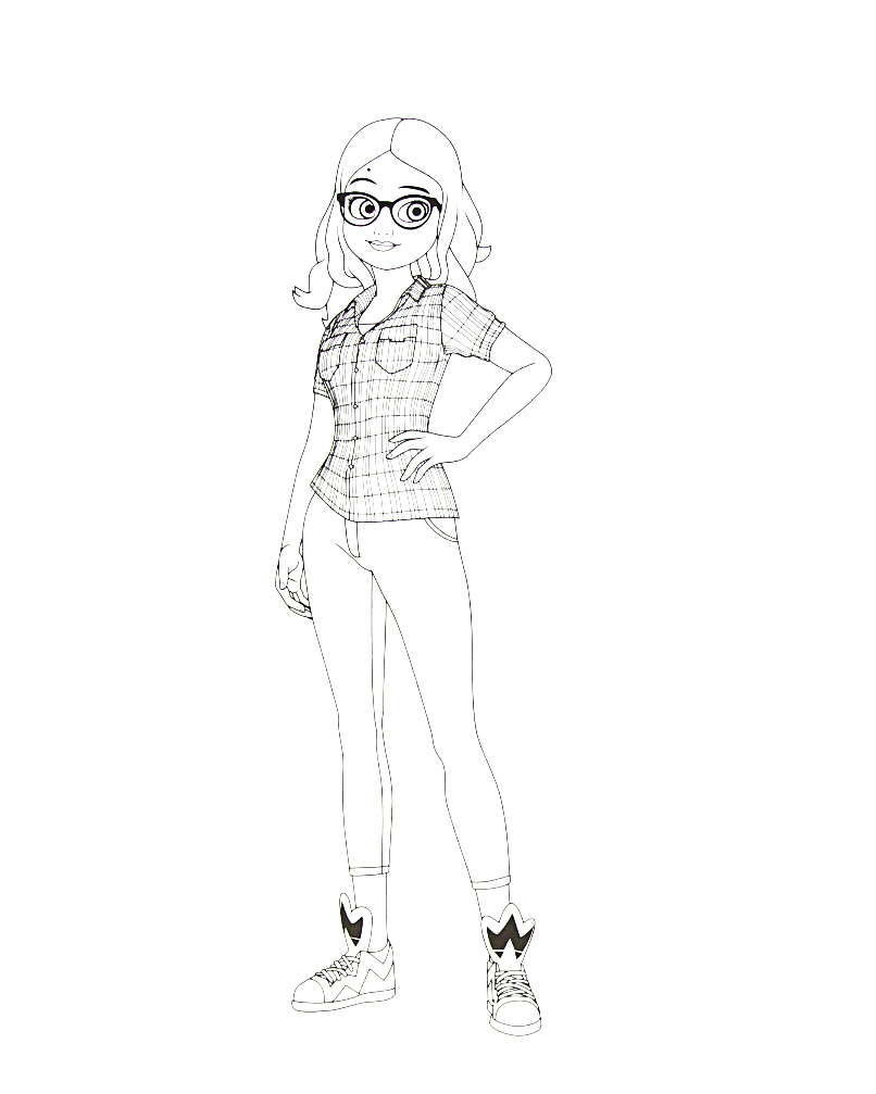 Miraculous Ladybug New Coloring Pages Alya