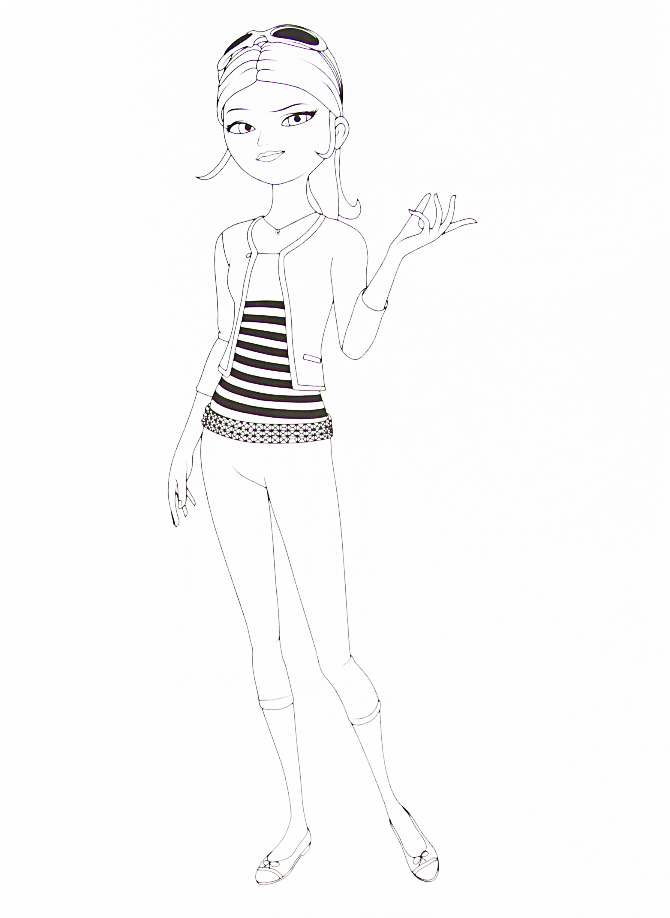 Miraculous Ladybug new coloring pages Cloe