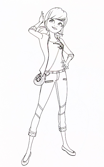Miraculous Ladybug new coloring pages Marinette