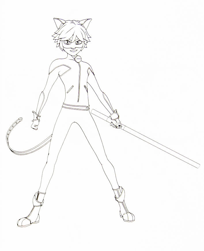 Miraculous Ladybug new coloring pages Chat Noir