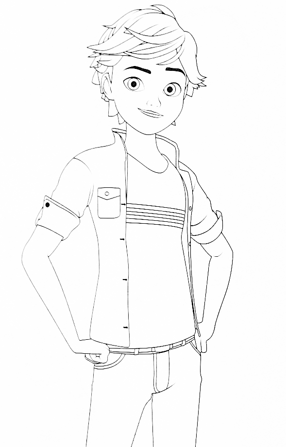 Miraculous Ladybug new coloring pages Adrien
