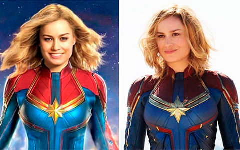 The fan added a smile to the Captain Marvel and in return received a wild superhero flashmob