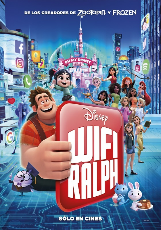 One More New Poster From Ralph Breaks The Internet With Disney Princess In Casual Modern Outfits Youloveit Com