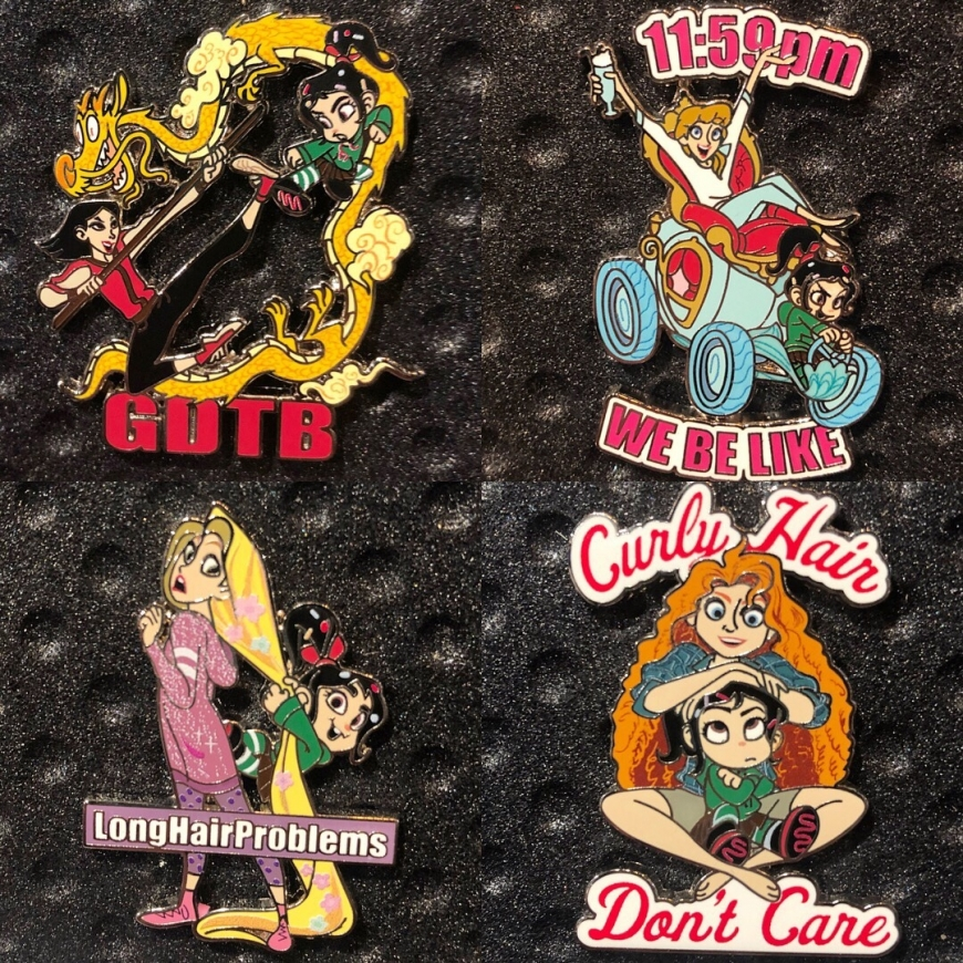Ralph Breaks the Internet Mystery enamel pins from parks with Disney Princesses