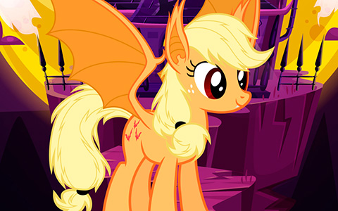 Cute Halloween Phone wallpapers with My Little Ponies as bats