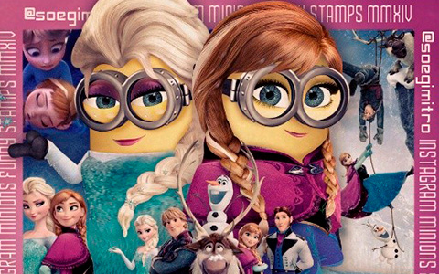 Artist replaced the Disney Princesses with Minions