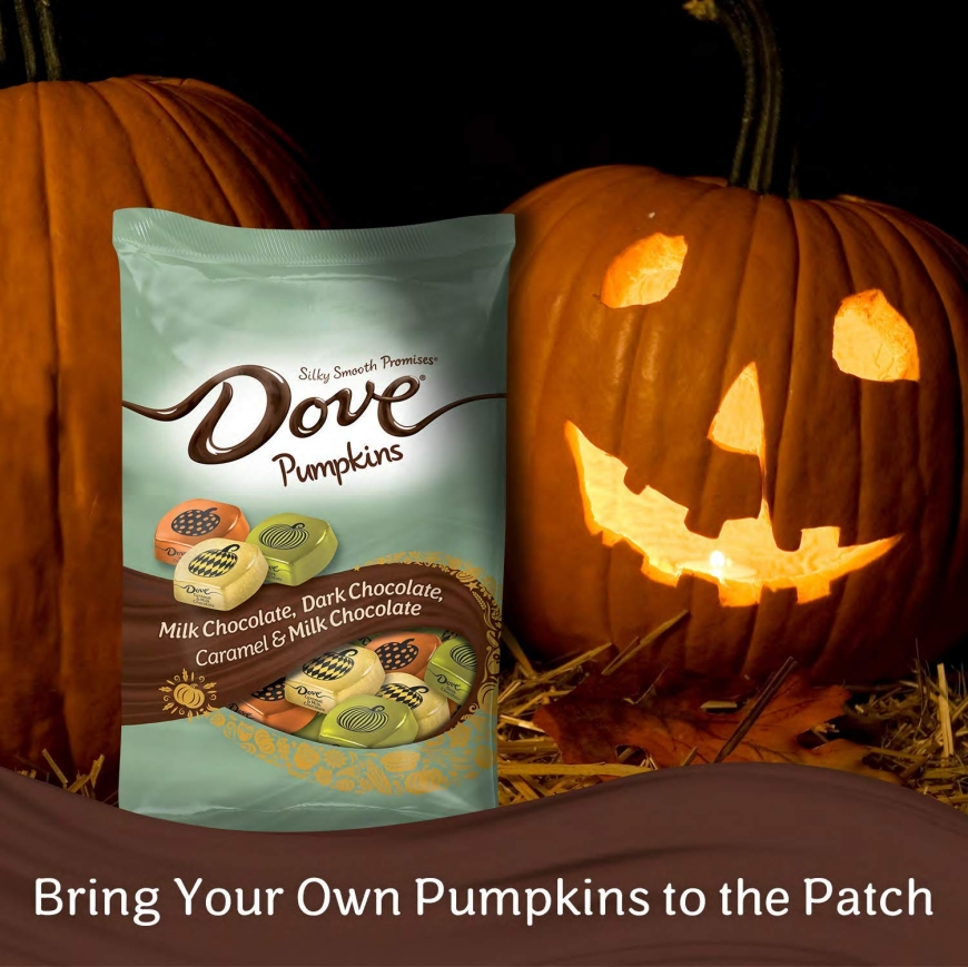 DOVE PROMISES Variety Mix Harvest Halloween Chocolate Candy Pumpkins
