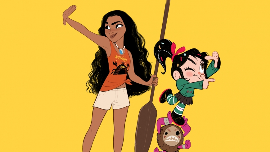Ralph Breaks the Internet Disney Princess wallpaper Vanellope and Moana