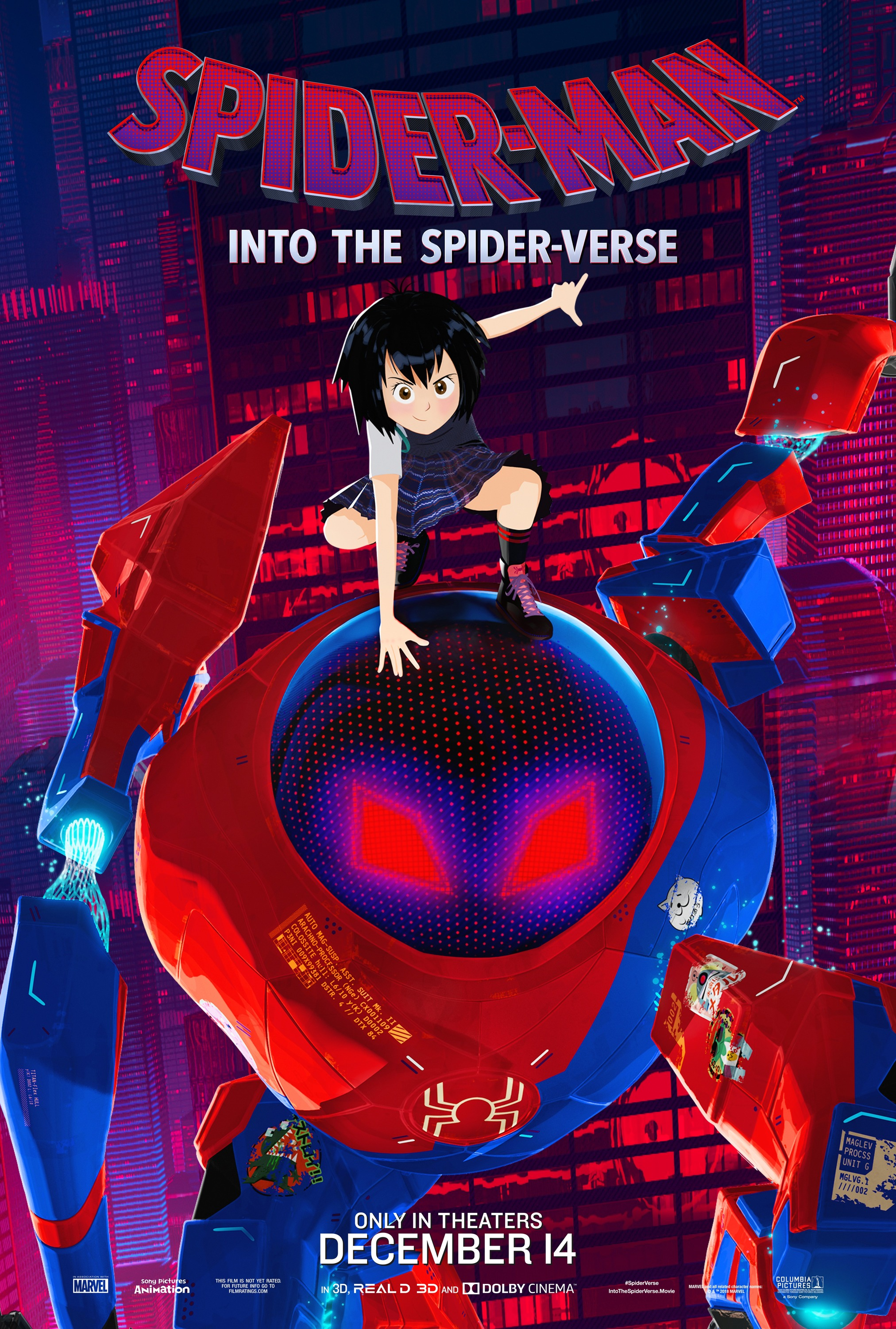 all six spiders in spiderman into the spiderverse big