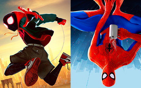 All six spiders in Spider-Man: Into the Spider-Verse big HD posters