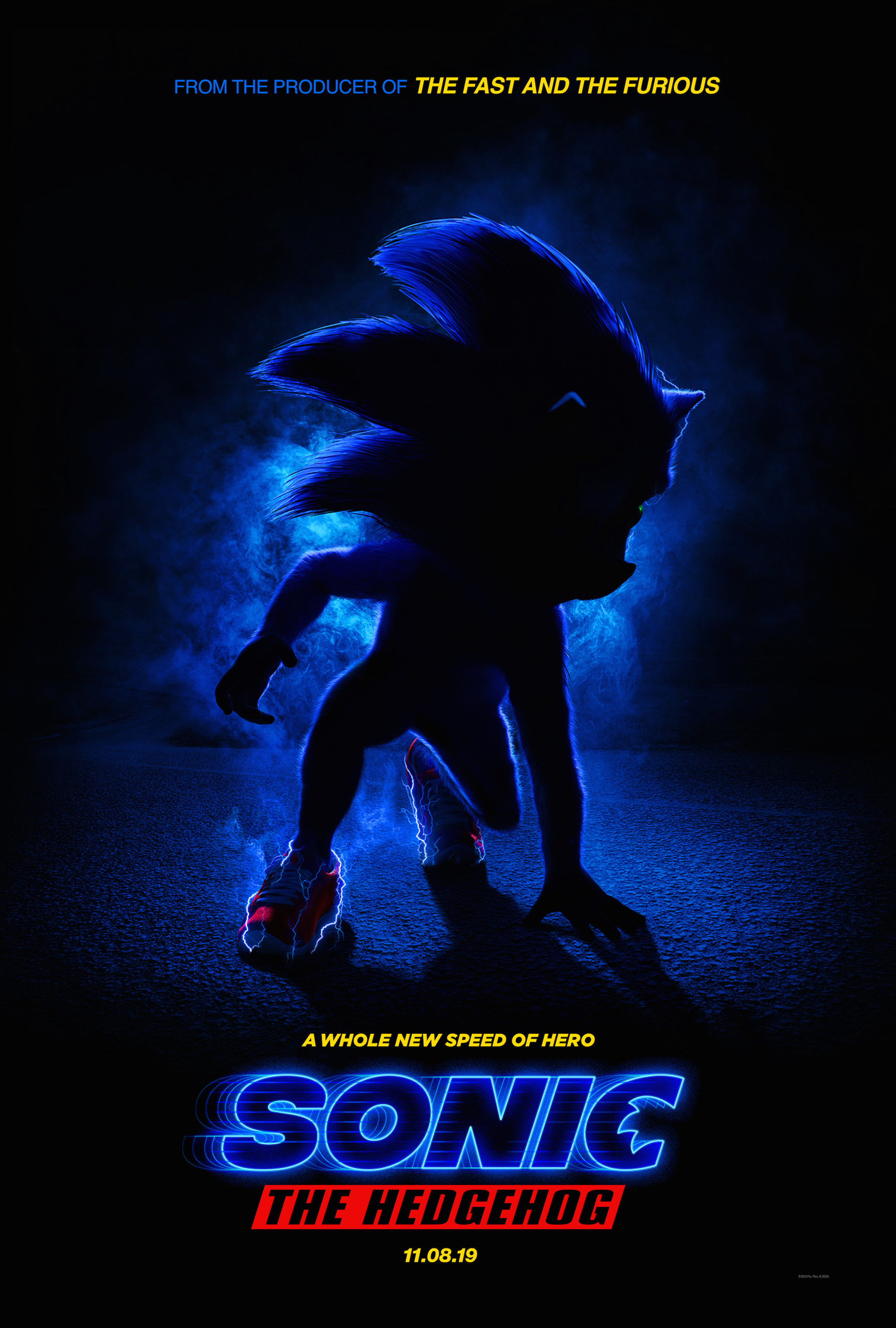 First Poster Of The Sonic The Hedgehog Movie Caused A Mixed