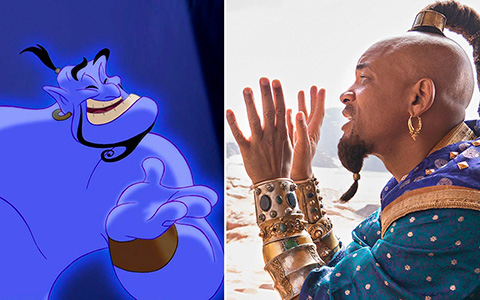 Aladdin Movie VS animated movie characters