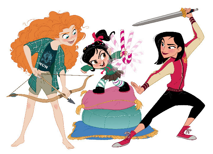 Disney Princesses new pictures in comfy clothes Ralph Breks the Internet