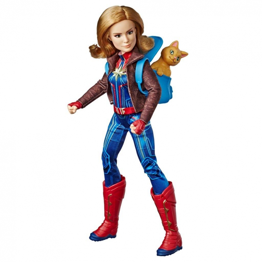 CAPTAIN MARVEL MOVIE CAPTAIN MARVEL DOLL AND MARVEL'S GOOSE