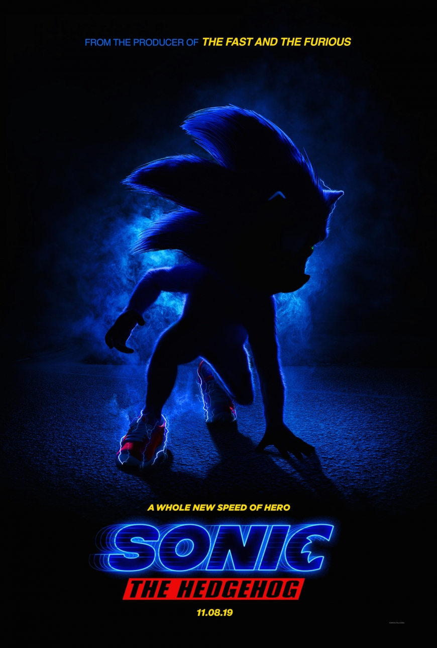 First poster of the Sonic The Hedgehog Movie
