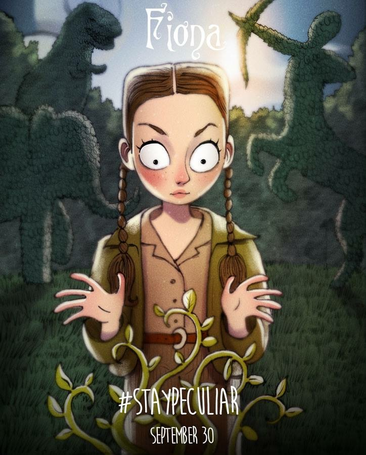 Miss Peregrine's Home for Peculiar Children characters in cartoon Tim Burton style