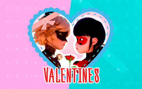 Sweet Miraculous Ladybug and Cat Noir Valentines