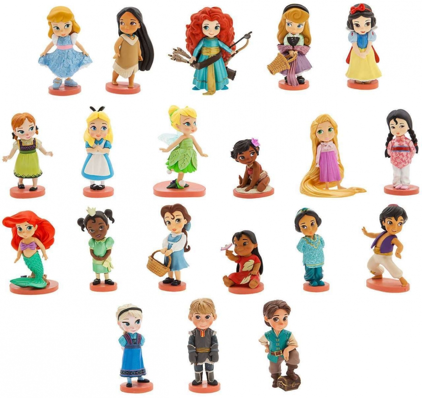 20 pieces Mega Figure Set Disney's Animators' Collection with ALL Disney Princess and more