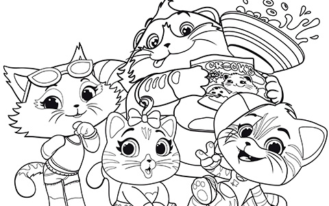 Free 44 Cats coloring pages