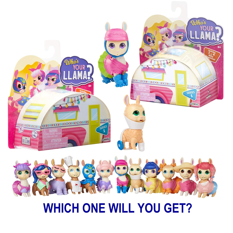 différentes couleurs Jakks Pacific who/'s your Llama Mini-Collectionneur morceaux