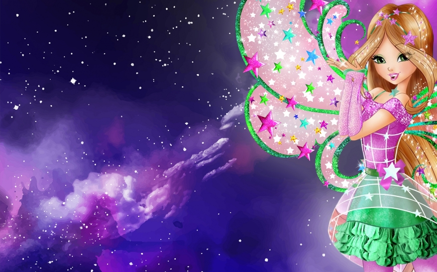 Winx Club 8 season wallpaper Flora Cosmix