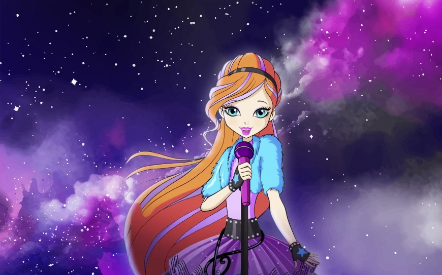 Winx Club 8 season wallpaper Bloom sing