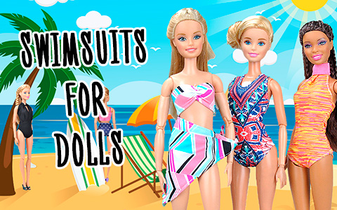 Bikini Swimsuits clothes for your 11.5 Inch Dolls - make your Barbie ready for the summer!