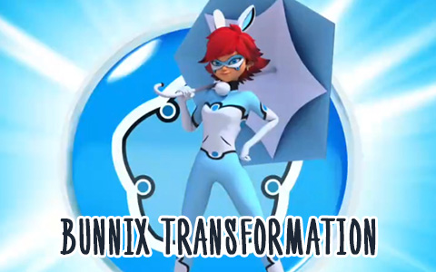 Rabbit Miraculous Bunnix transformation in pictures and gifs